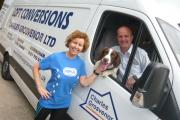 Helen Tuite, Russell Annis, director at Charles Grosvenor, and his dog Keith.