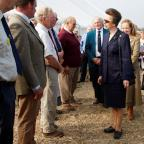 Redditch Advertiser: The Princess Royal meets committee members of the  Forest of Arden Agricultural Society. Buy picture, RCR391401_02, at redditchadvertiser.co.uk/pictures.