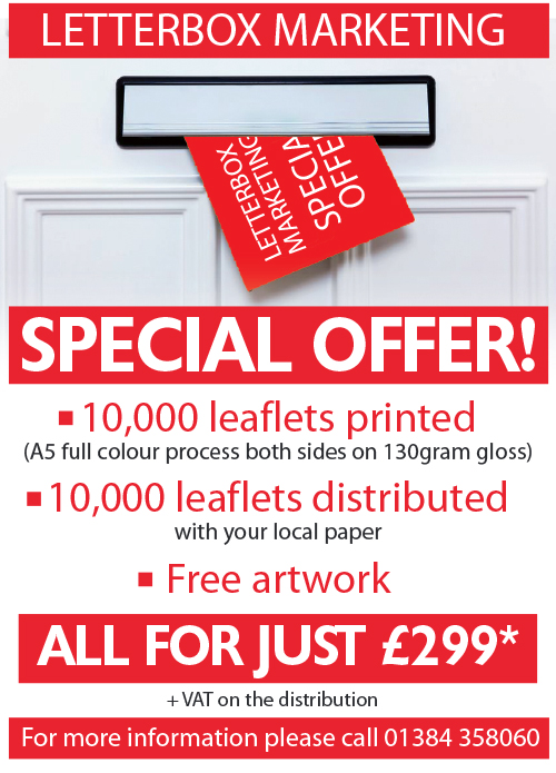Redditch Advertiser: Leaflet offer