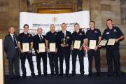 Bidford Fire Station crew receives its award at the Warwickshire County Council Fire and REscue Service awards