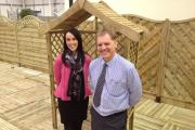 Amy Byng and Gerard Gregory at Forest Garden's Hartlebury base