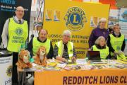Redditch Lions Club members in the Kingfisher Shopping Centre. SP