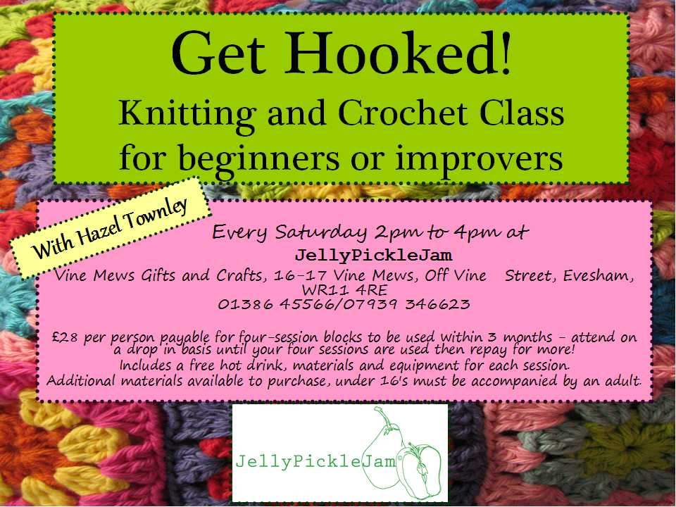 Get Hooked Knitting and Crochet Class