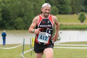 Danny Harris of Worcester Triathlon Club taking part in the middle distance event.