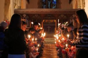 Crowle children raise money for charity at annual Christingle Service