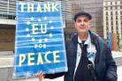 Man takes overnight coach from London to Belgium to show support for EU