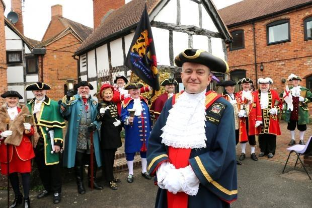 David Parks with town criers at a previous Heart of England Town Criers' competition.