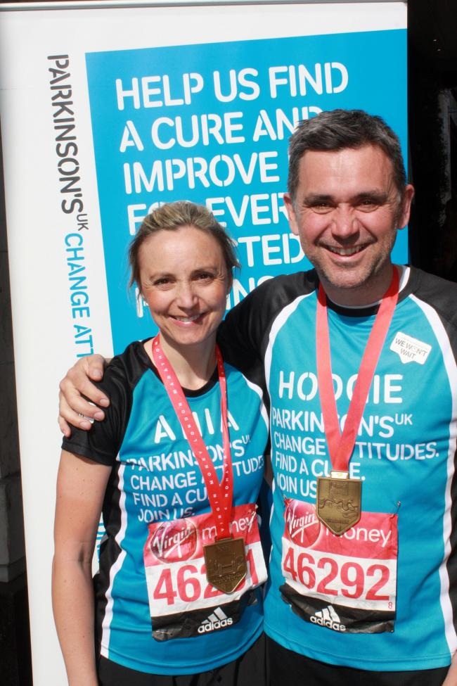 Ania Airlie and Phil Hodges raised over £5,300 for Parkinson's UK.