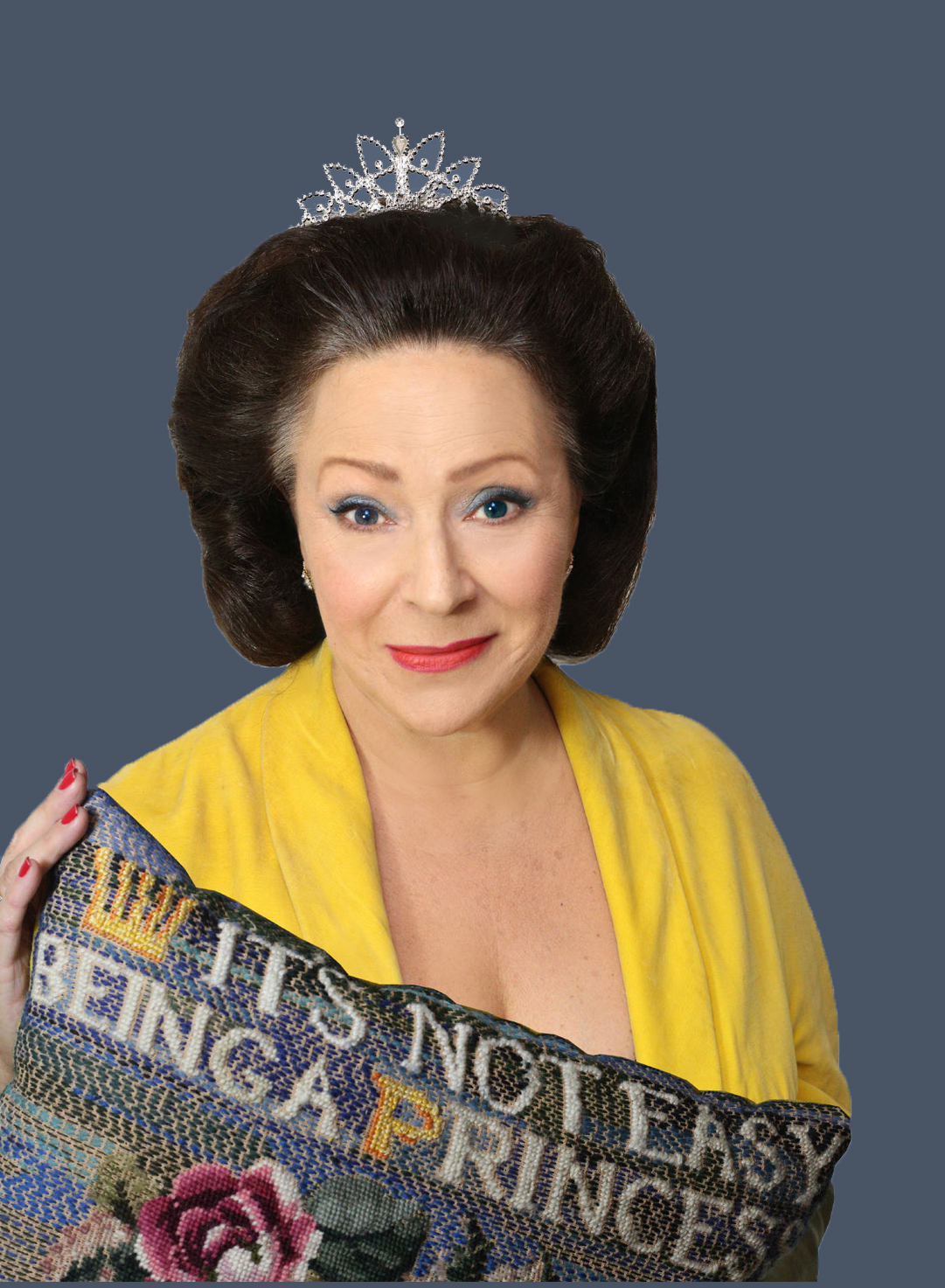 NOT EASY: Harriet Thorpe as Princess Margaret at the Festival Theatre, Malvern.
