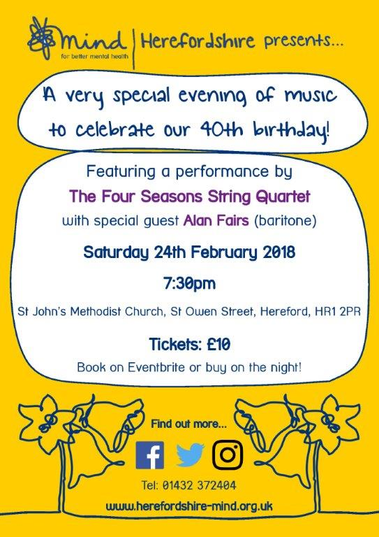 Herefordshire Mind & The Four Seasons String Quartet