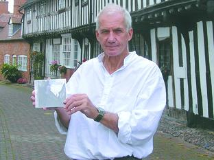 Mike Oldfield with his new CD Streets of Alcester.