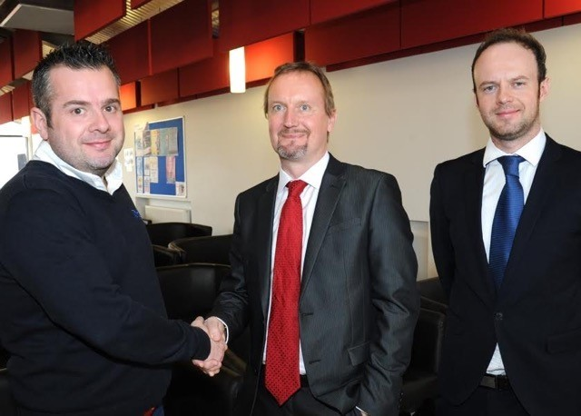 Neil Clifton, managing director of Cube Precision Engineering, Chris Greenough, commercial director of Salop Design & Engineering, and Charles Addison, director of Made in the Midlands.