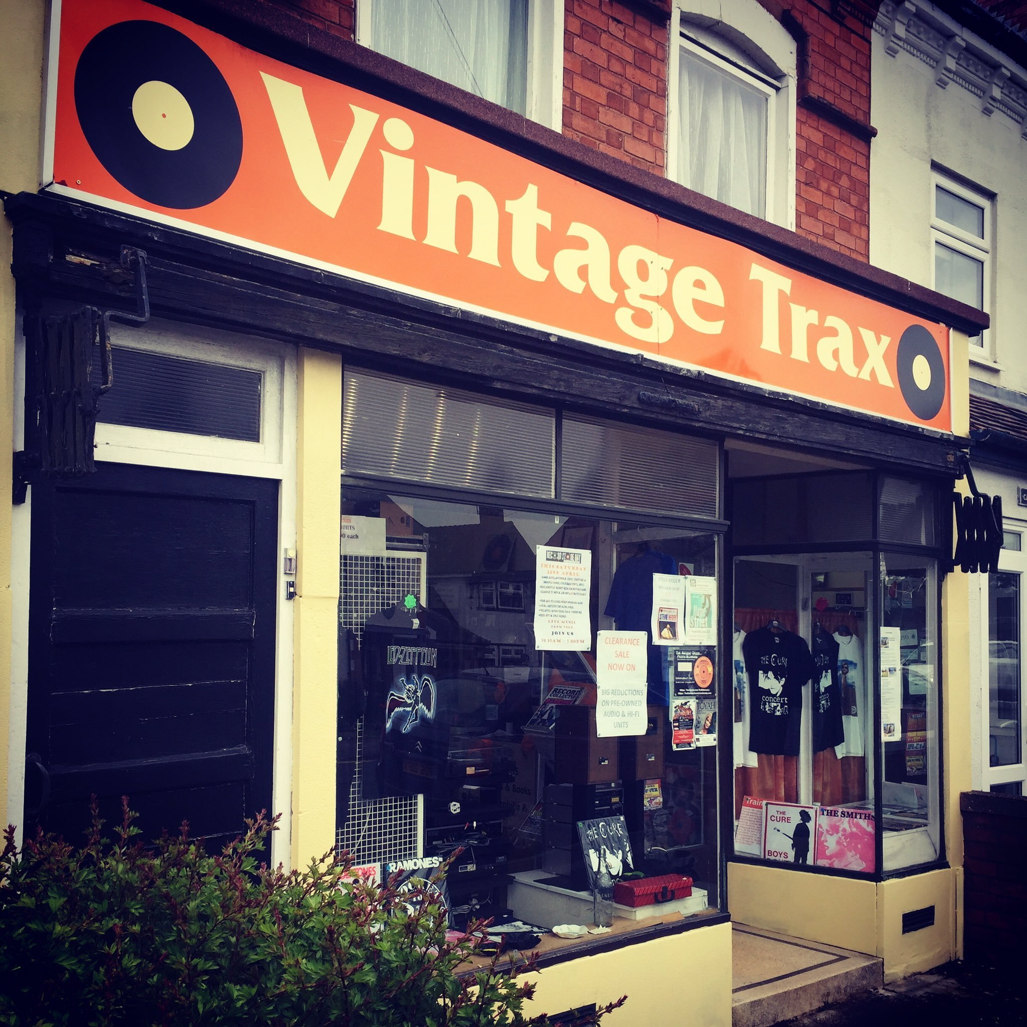 Redditch's only indie record shop, Vintage Trax