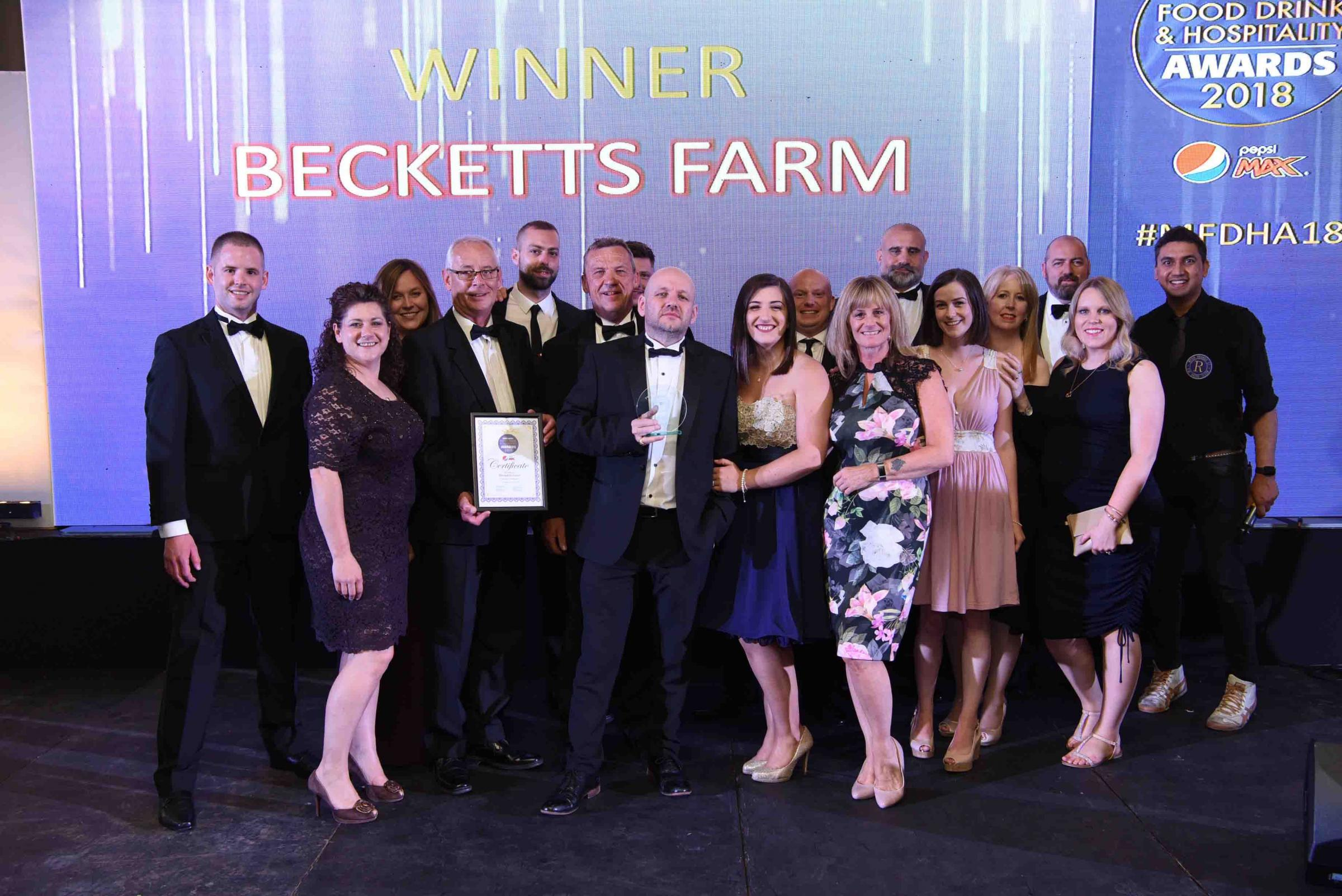 Staff from Becketts Farm at the ceremony