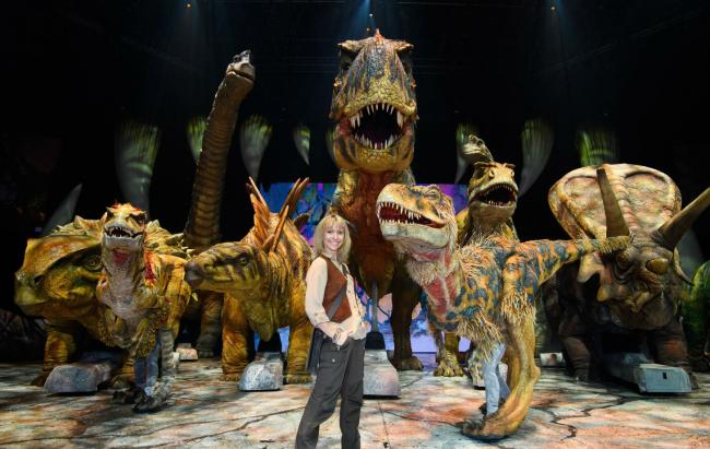 Michaela Strachan Brings Really Wild Dinosaur Show To Arena