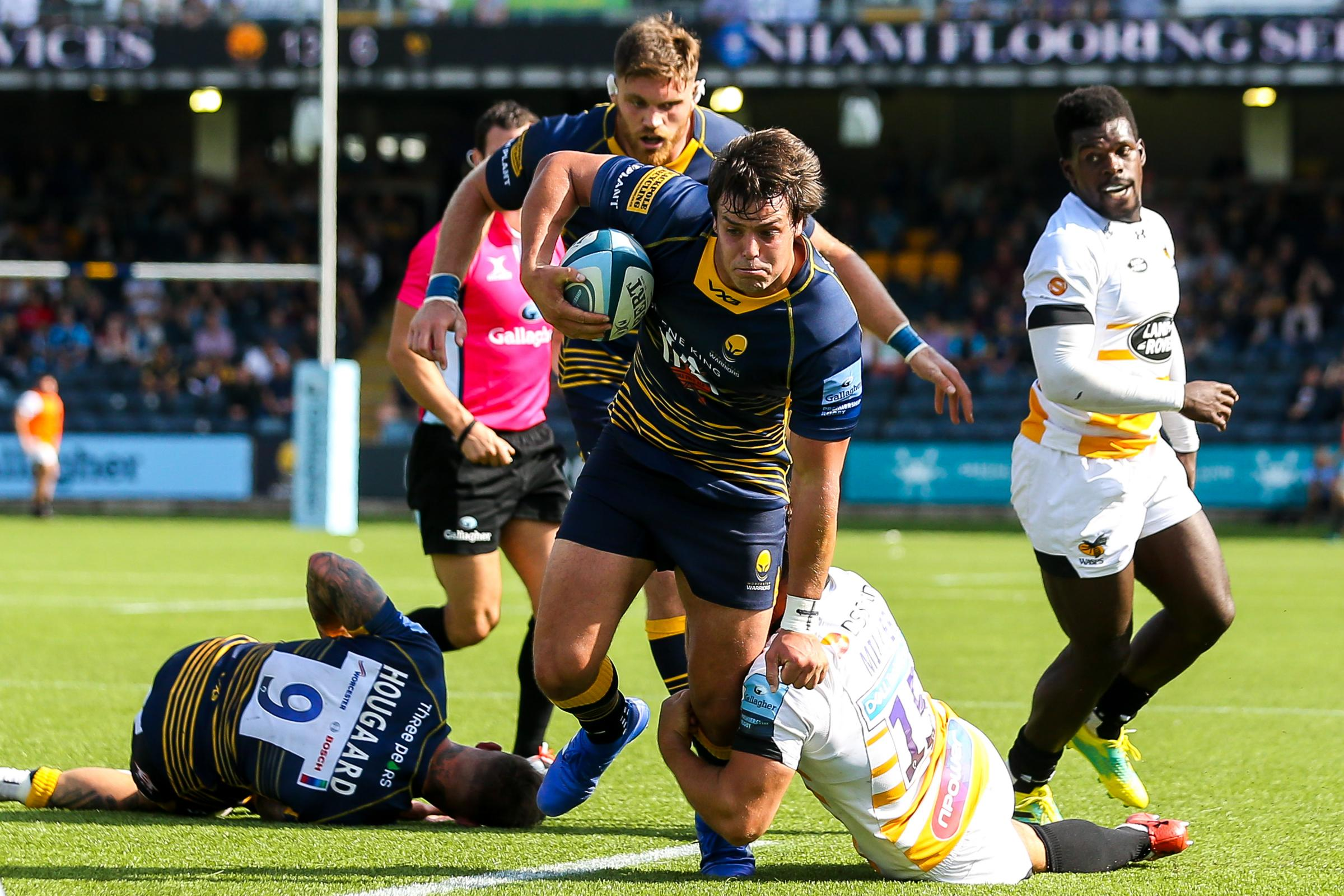 Francois Venter in action against Wasps earlier this season. Picture: Robbie Stephenson/JMP