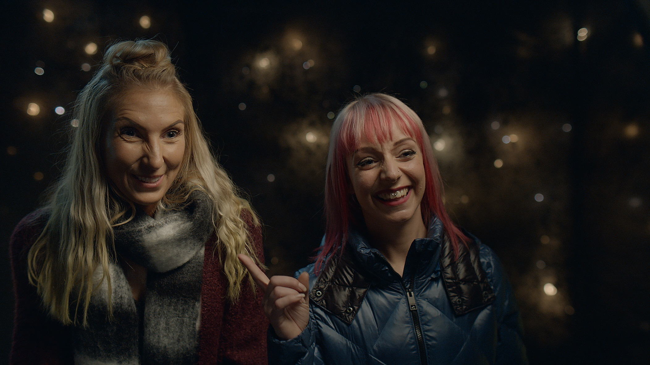 Jenny from Redditch (left) is featured in a range of ads coming out over the festive period