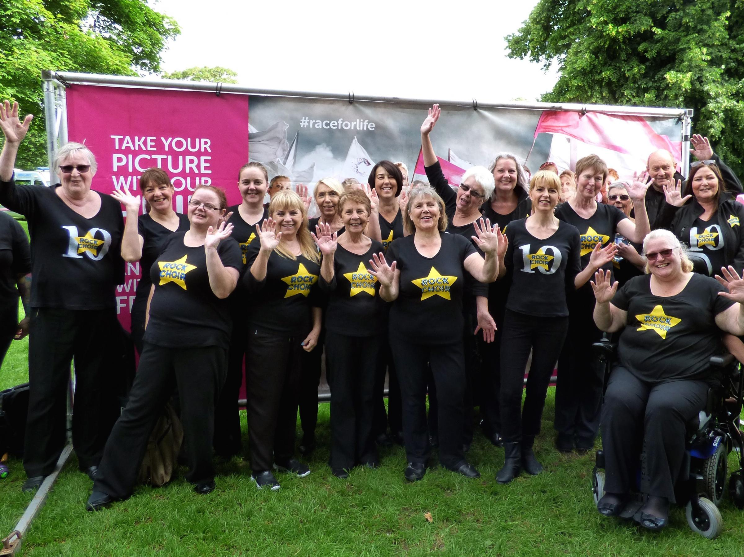 Members of Rock Choir at a recent event