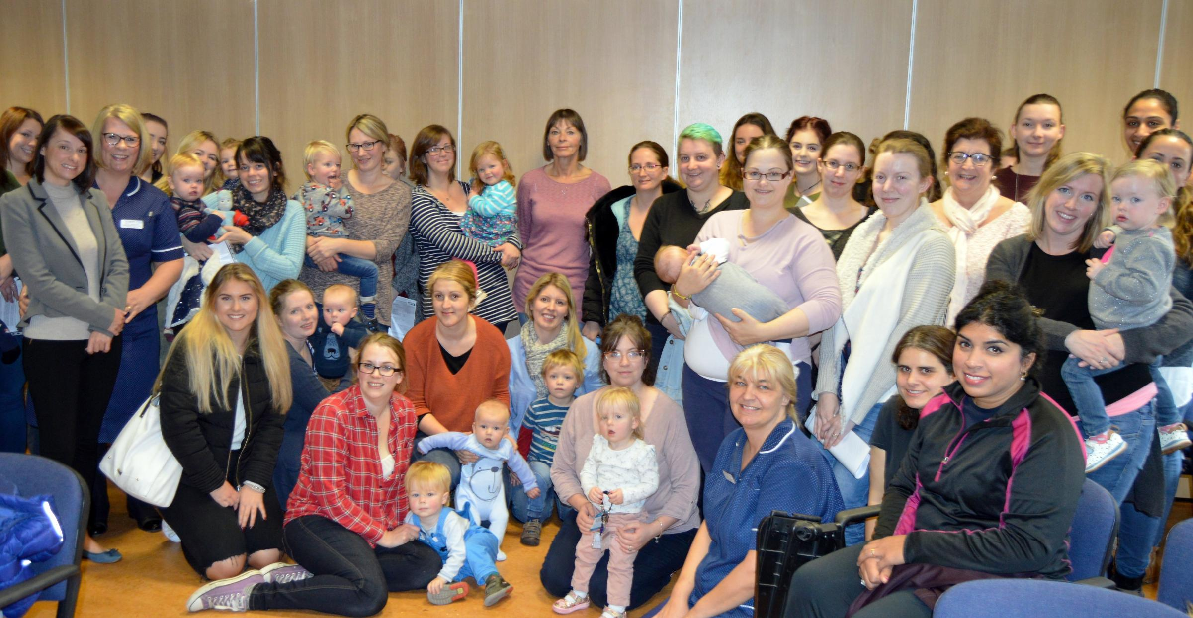 Last year's breastfeeding support volunteers