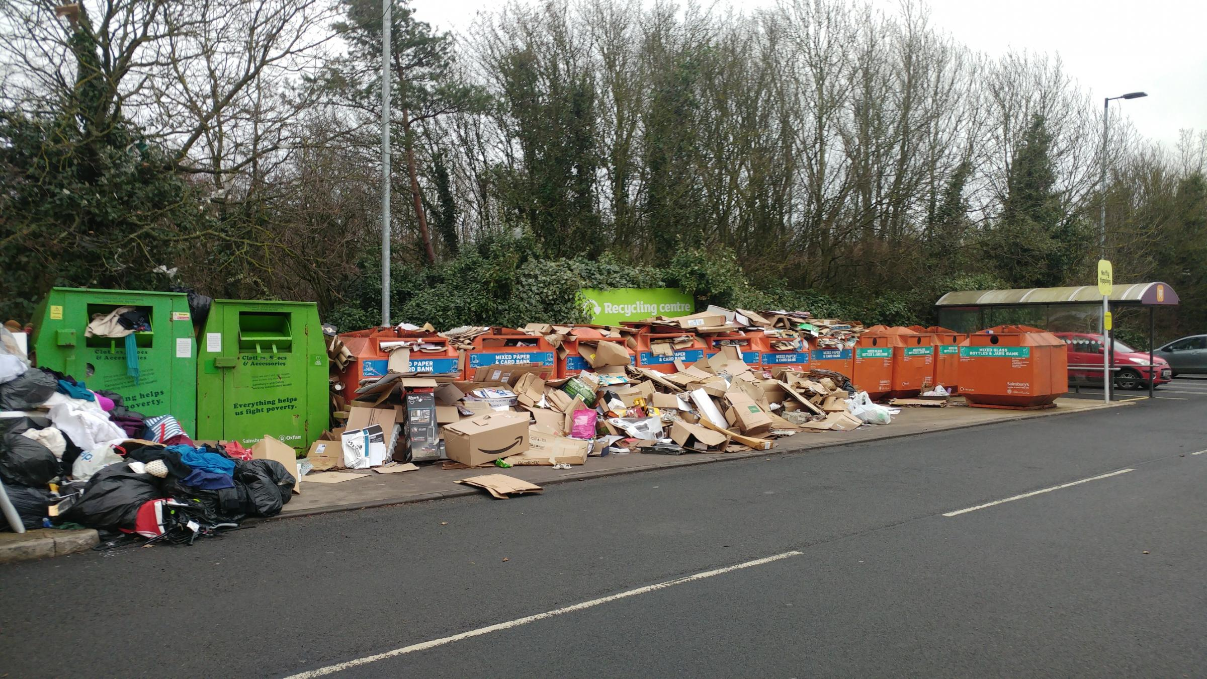 Fury as rubbish dumped in car park of Sainsburys in Redditch