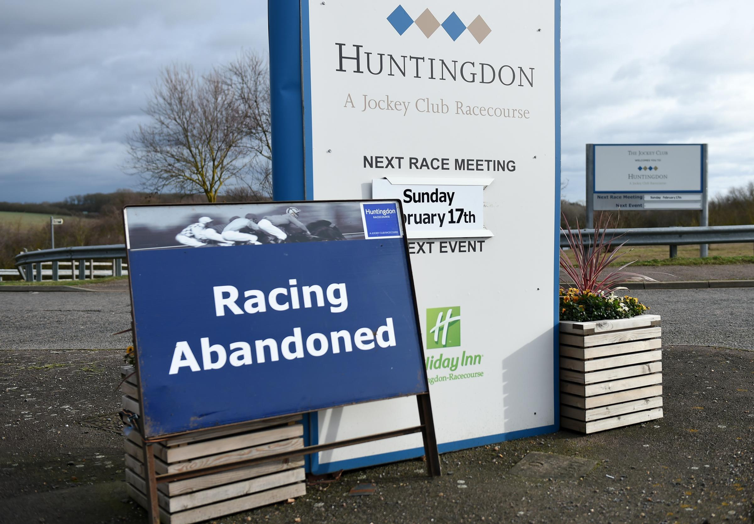 Racing has been abandoned after an outbreak of equine flu. Photo: Joe Giddens/PA Wire