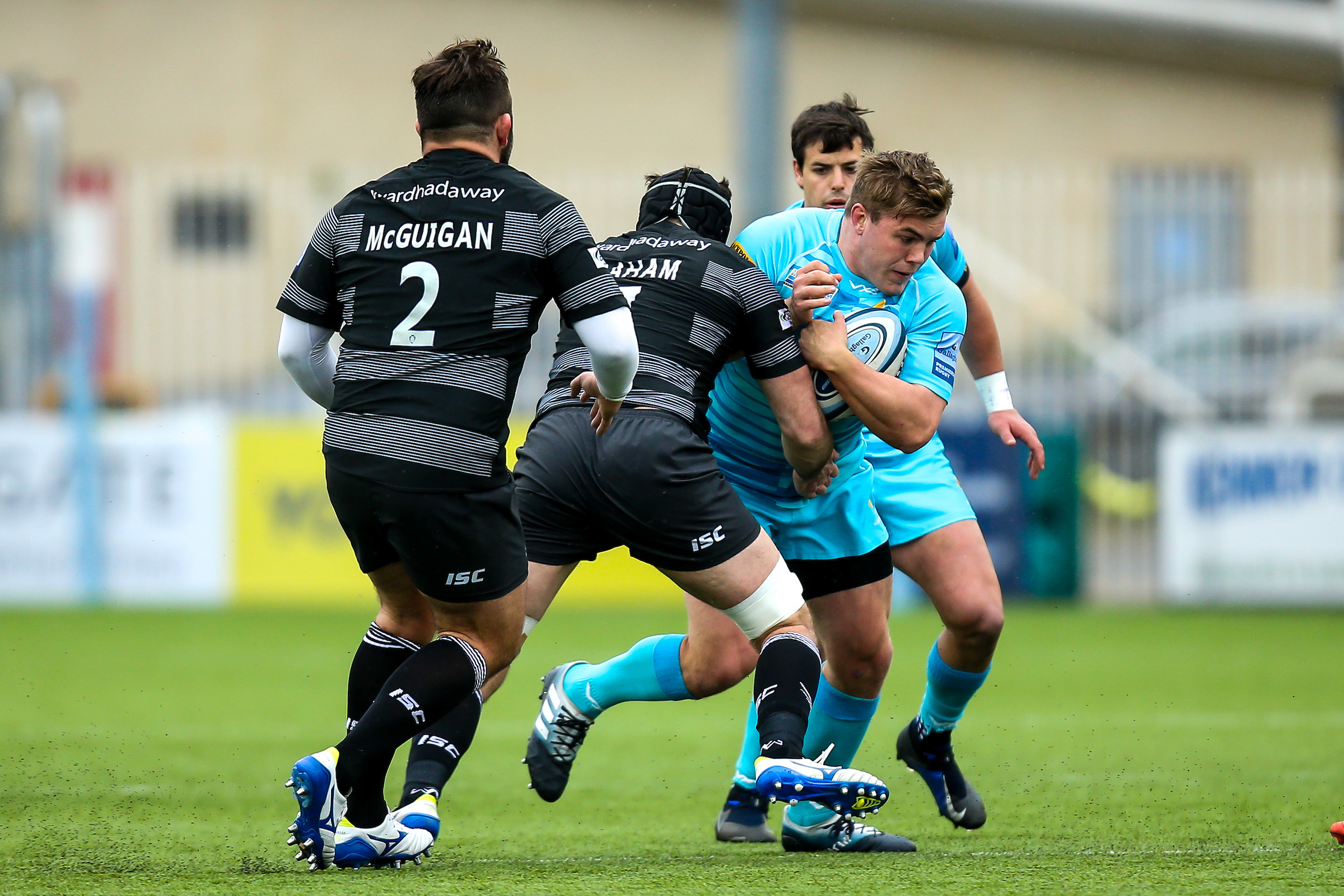 Jack Singleton in action against Falcons before his injury. Picture: ROBBIE STEPHENSON/JMP