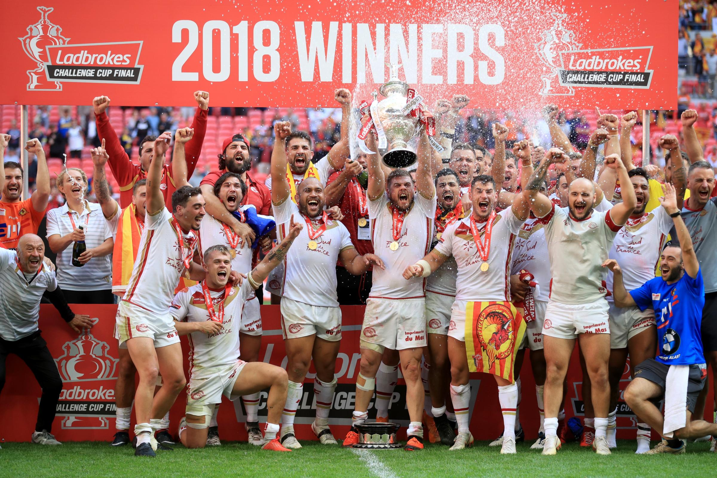 Catalans Dragons v Warrington Wolves – Ladbrokes Challenge Cup – Final – Wembley Stadium