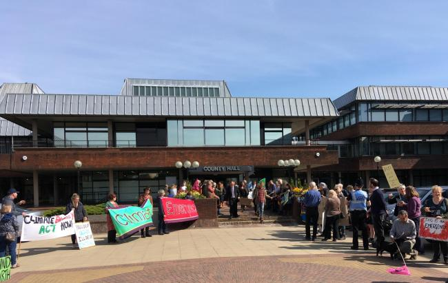 REJECTED: A call to declare a climate emergency at Worcestershire County Council was rejected by the council's Conservatives.