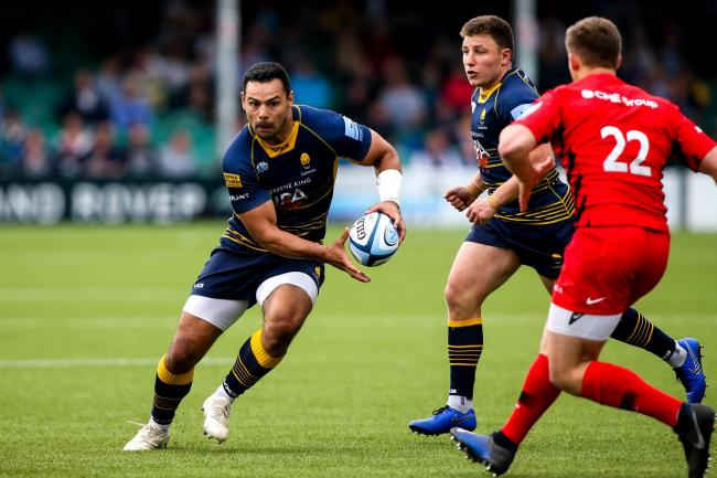 Ben Te'o in action during his final outing for Worcester Warriors. Picture: Robbie Stephenson/JMP