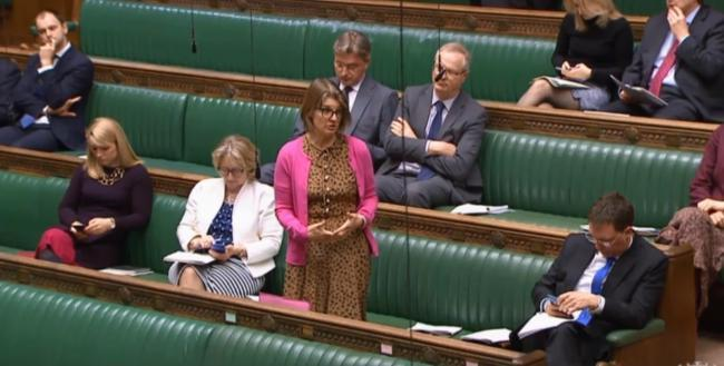 Redditch MP Rachel Maclean in the Commons
