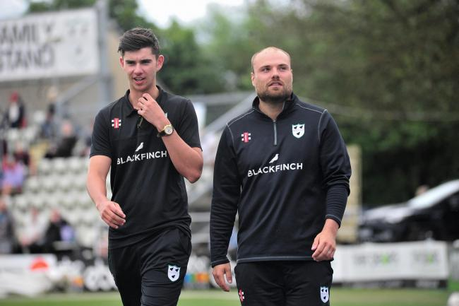 Joe Leach (right) at New Road. Picture: Jonathan Barry