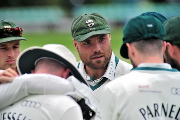 SKIPPER: Joe Leach talking to his players. Pic Jonathan Barry.