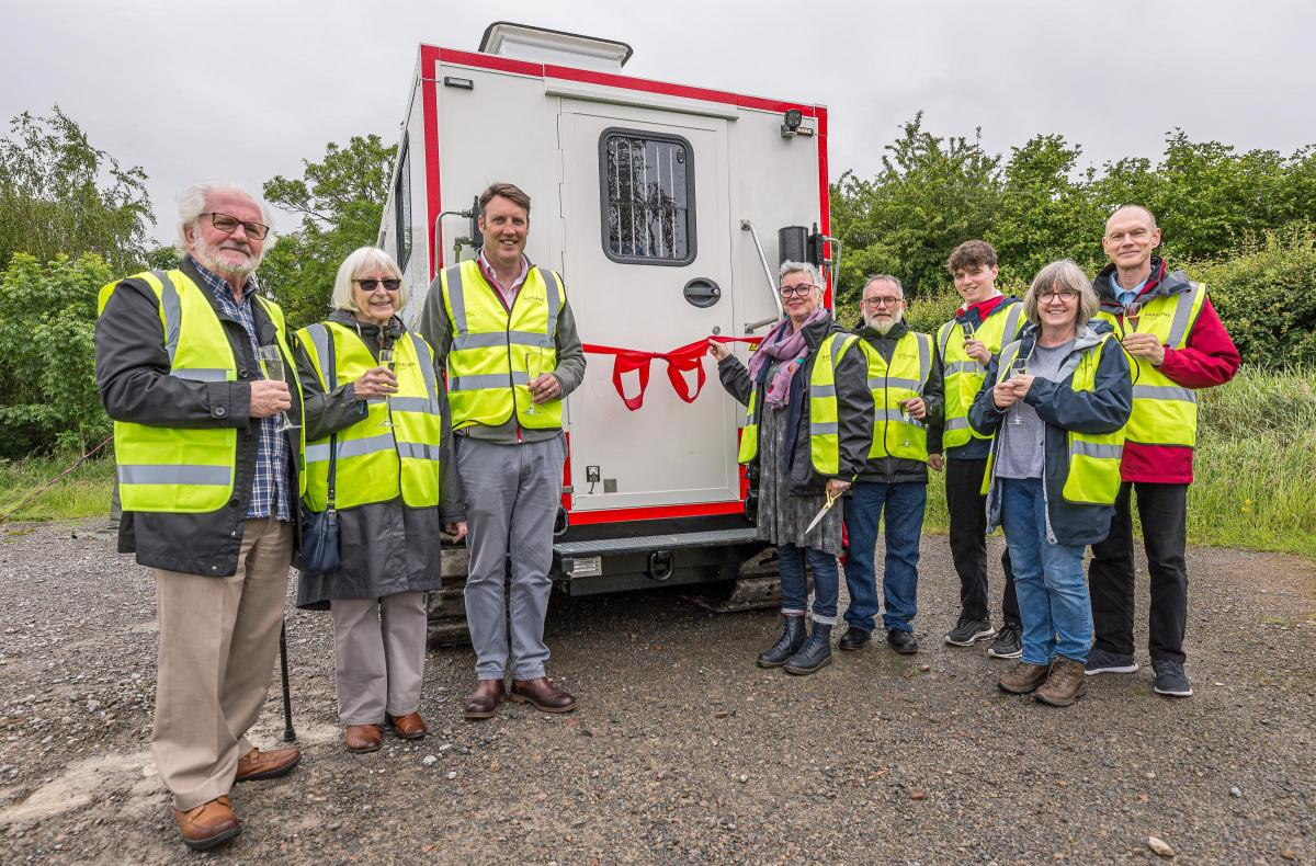 Ross-on-Wye company name bomb detection truck in memory of
